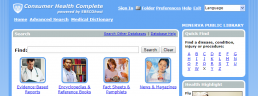 Screenshot of a Consumer Health Complete search page.