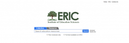 Screenshot of ERIC search page.